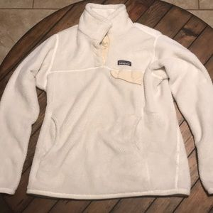 Women's Patagonia White Button Up Pull Over